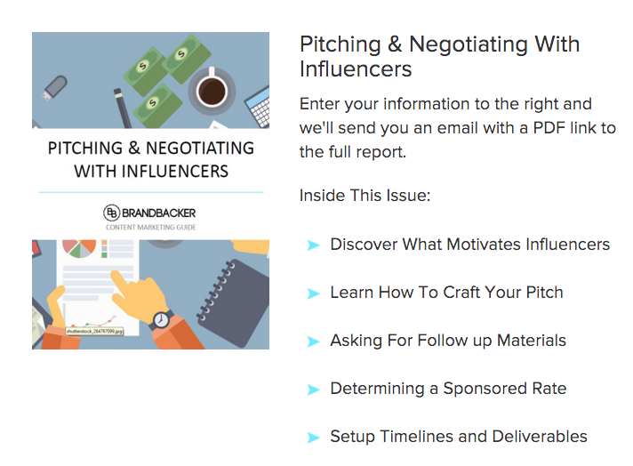 Pitching and Negotiating With Influencers Guide-BrandBacker